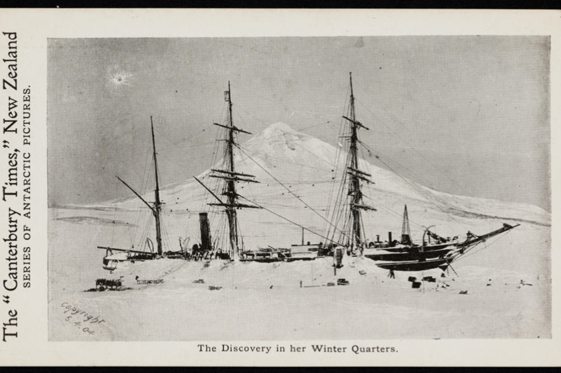 9877 1 The 'Discovery' in winter quarters, 5 April 1904