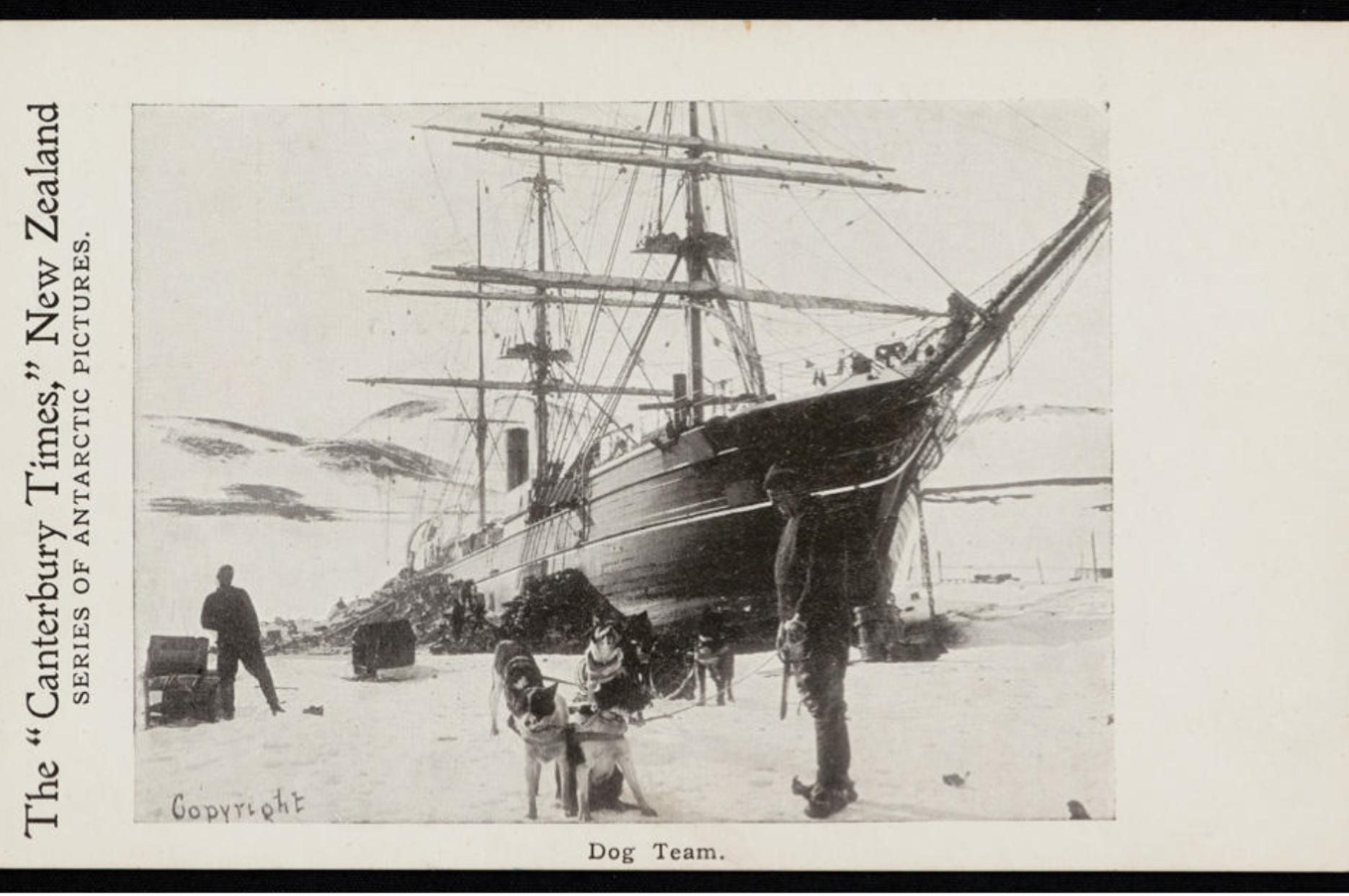 9947 1 Dog team on the ice in Antarctica during the 'Discovery Expedition' of 1901-04