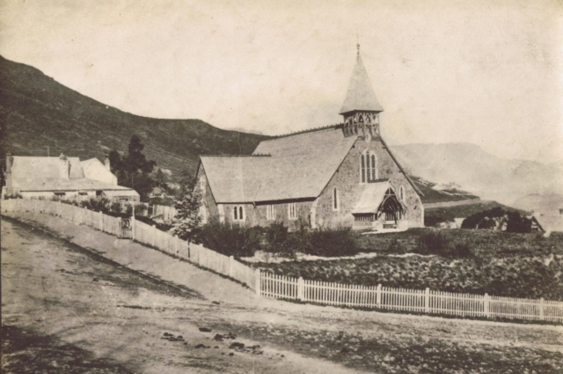 The second Church of the Most Holy Trinity Church, Lyttelton, undated. Lyttelton Museum