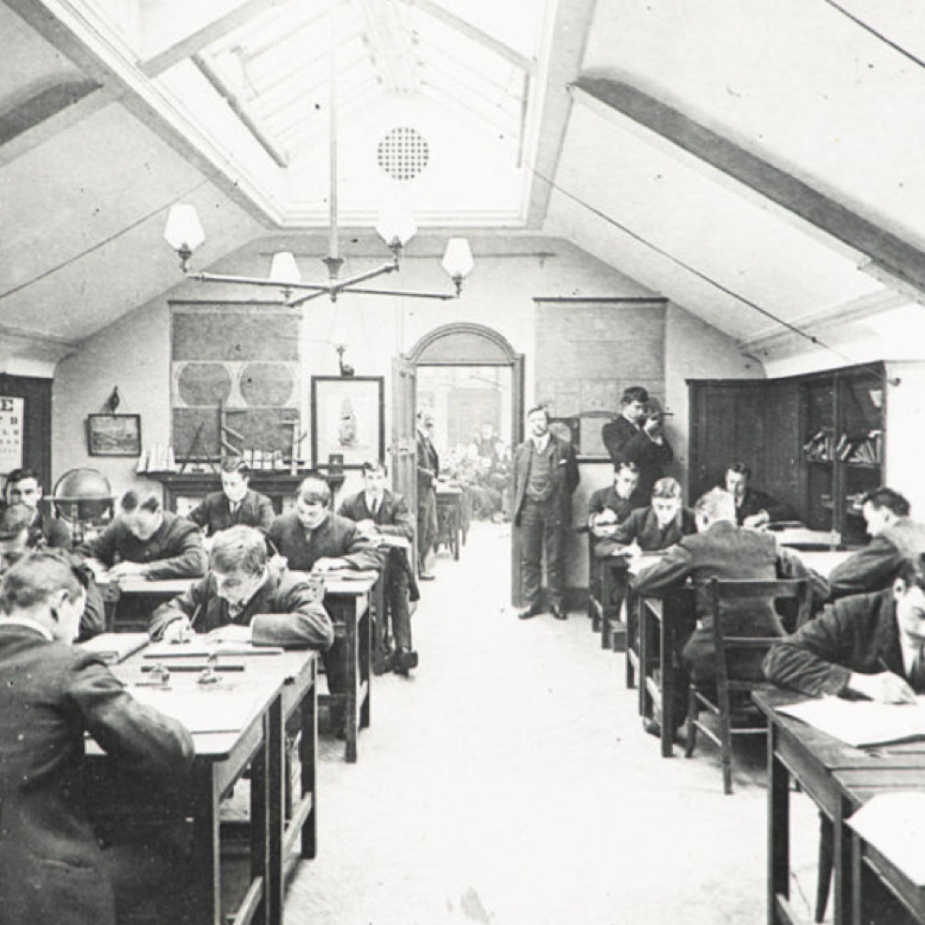 Nautical School classroom in the early 1900's - 7606.1